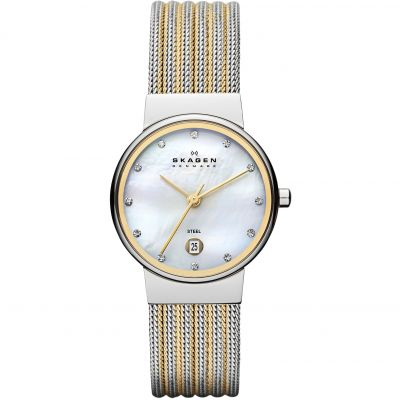 Skagen Ancher Dameshorloge Tweetonig 355SSGS