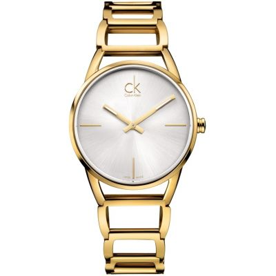 Calvin Klein Stately Damenuhr in Gold K3G23526