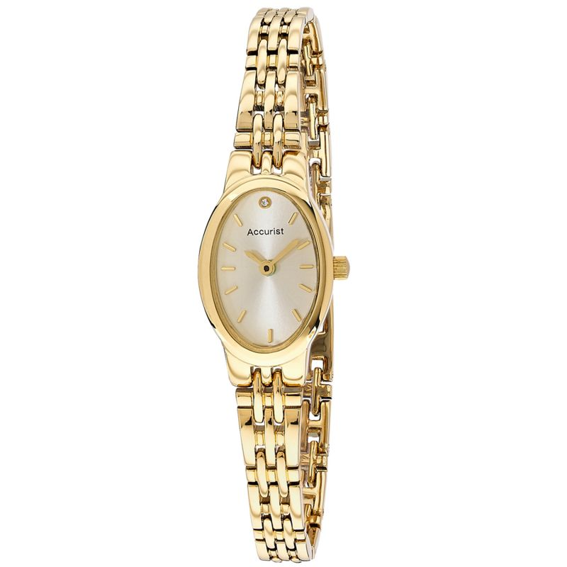 Ladies Accurist Accurist Womens Oval Case Bracelet Watch LB1336G