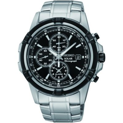 brand new 4a537 fc6ed Mens Seiko Alarm Chronograph Solar Powered Watch SSC147P1