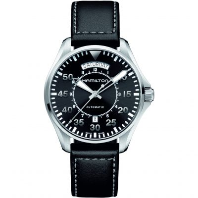 Mens Hamilton Khaki Pilot Day-Date Automatic Watch H64615735