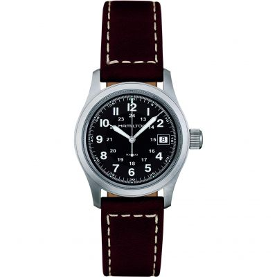 Hamilton Khaki Field Quartz 33mm Herrenuhr in Braun H68311533