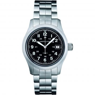 Hamilton Khaki Field Quartz 38mm Herrenuhr in Silber H68411133