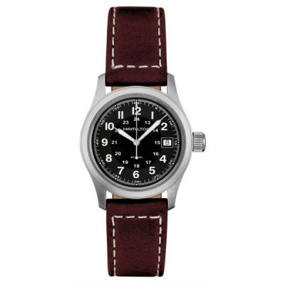Hamilton Khaki Field Quartz 38mm Herrenuhr in Braun H68411533