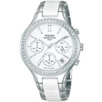 Ladies Pulsar Ceramic Chronograph Watch