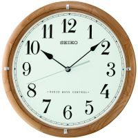 Seiko Clocks Wooden Wall Clock Radio Controlled QXR303Z