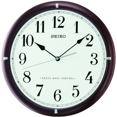 Seiko Clocks Wooden Wall Clock Radio Controlled QXR303B