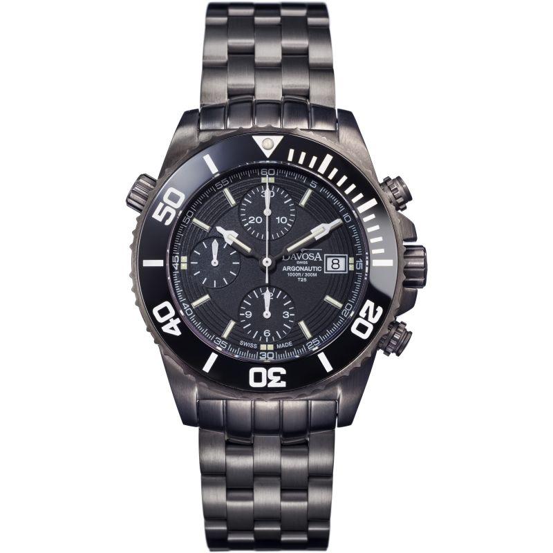 Mens Davosa Argonautic Gun Lumis Automatic Chronograph Watch