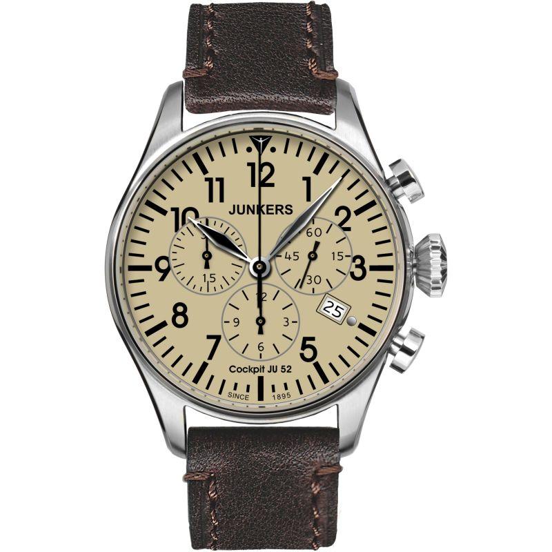 Mens Junkers Cockpit JU52 Chronograph Watch