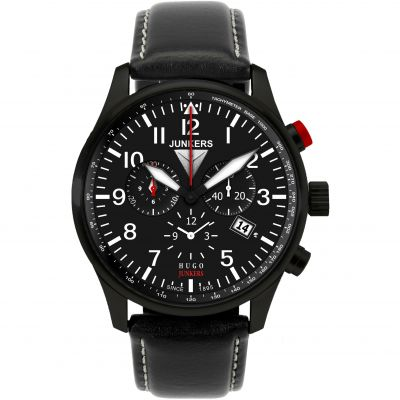 Mens Junkers Hugo Junkers Alarm Chronograph Watch 6680-2