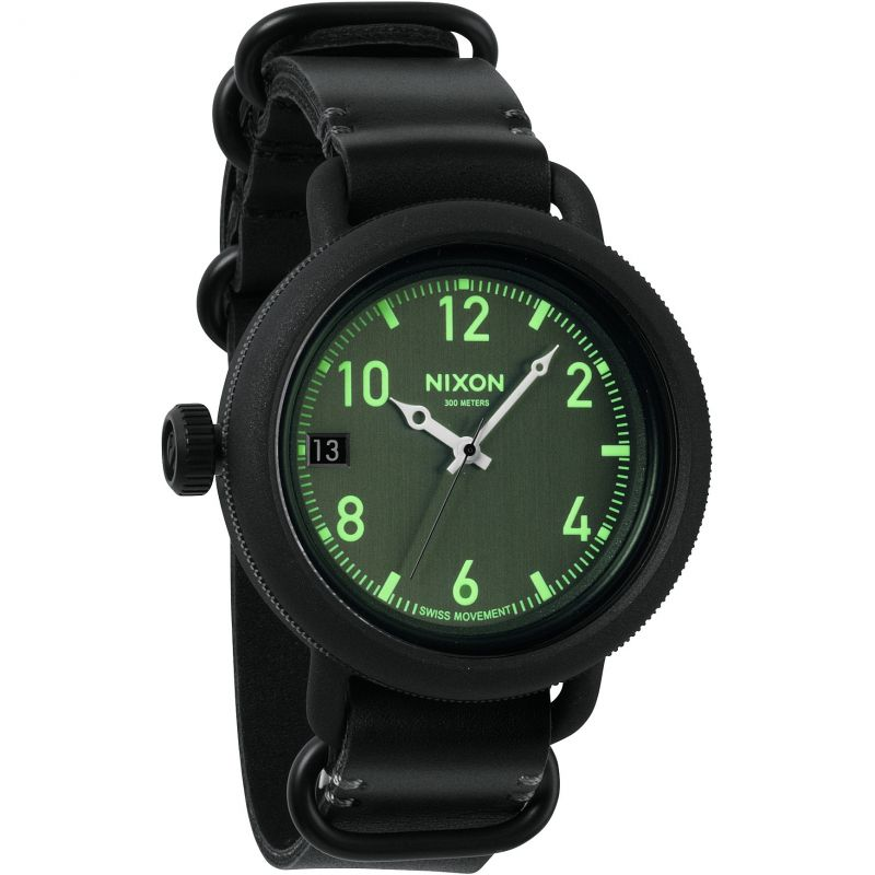 Mens Nixon The October Leather Watch A279-001