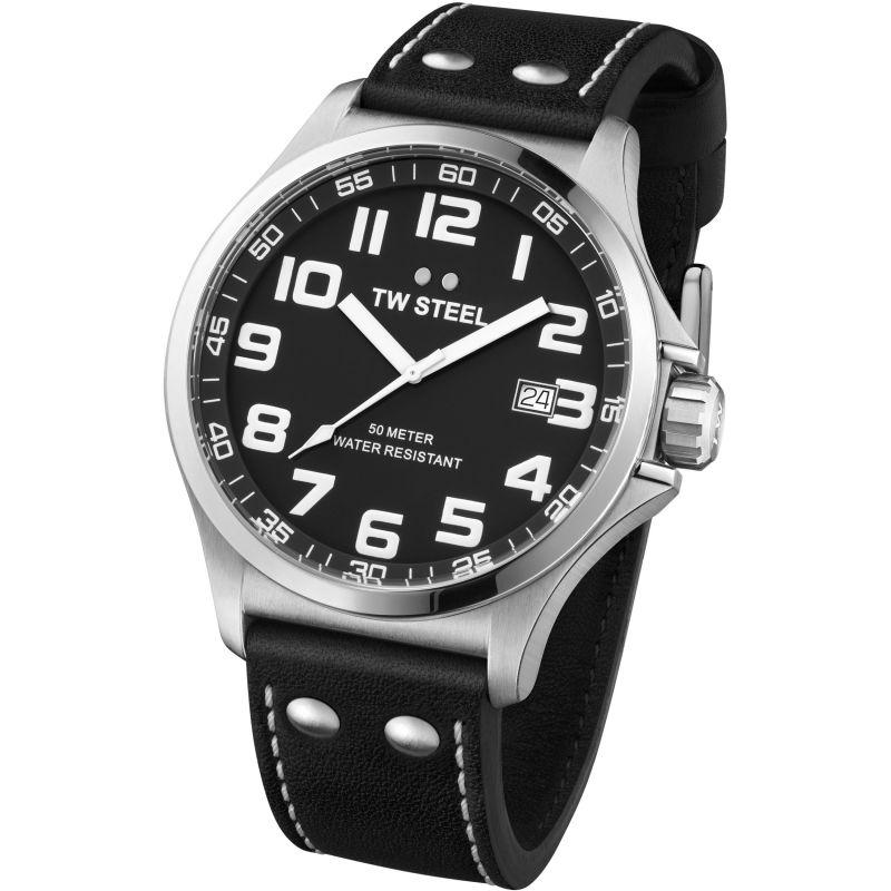 Mens TW Steel Pilot 48mm Watch