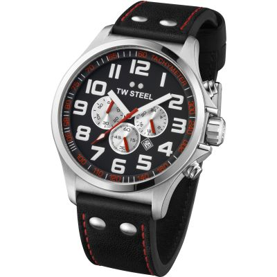 Mens TW Steel Pilot Chronograph 48mm Watch TW0415