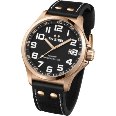 Mens TW Steel Pilot 45mm Watch TW0416