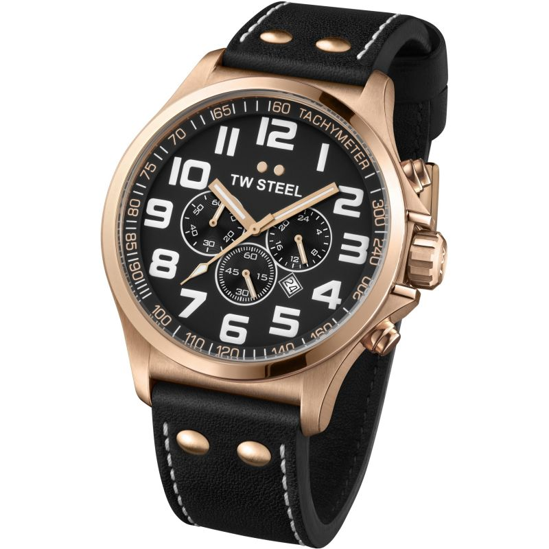 Mens TW Steel Pilot Chronograph 48mm Watch TW0419
