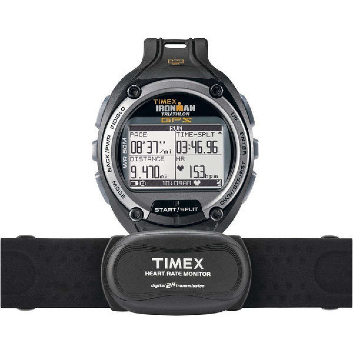 gents timex ironman triathlon gps global trainer heart rate monitor rh watchshop com Setting Timex Indiglo Watch Setting Timex Indiglo Watch