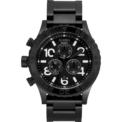 Nixon The 42-20 Chrono Herrkronograf Svart A037-001