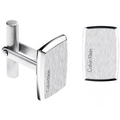 Mens Calvin Klein Stainless Steel Straight Cufflinks KJ0QMC080100