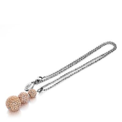 Ladies Shimla Stainless Steel Crystal Necklace SH125