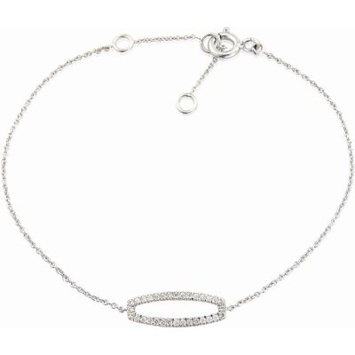 Jewellery 9ct White Gold Bracelet