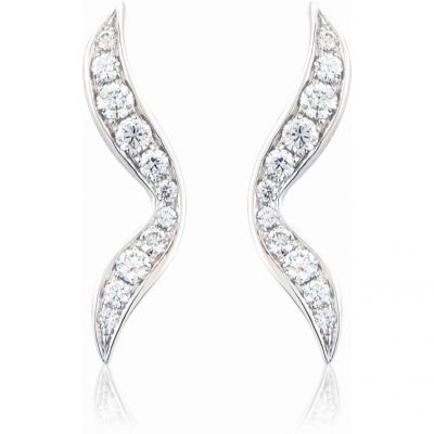 Jewellery 18ct White Gold Earring
