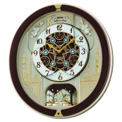 Seiko Clocks Musical Marionette Wall Alarm Clock QXM291B