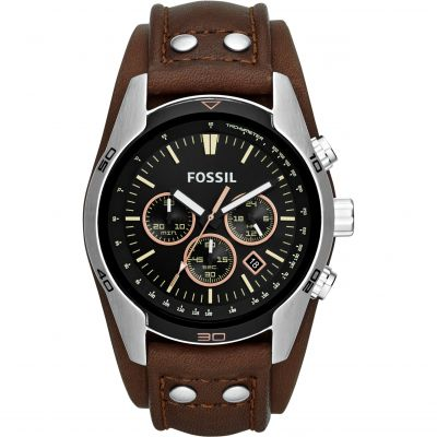 Mens Fossil Chronograph Cuff Watch CH2891
