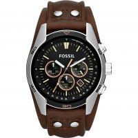 Mens Fossil Coachman Chronograph Cuff Watch CH2891