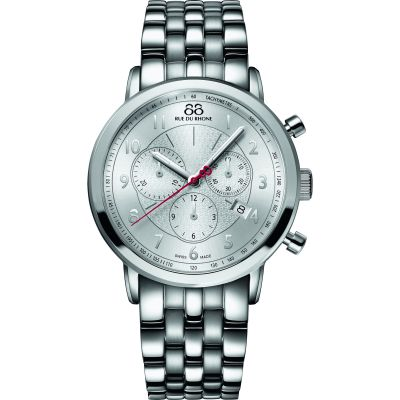 88 Rue Du Rhone Double 8 Origin 42mm Herrenchronograph in Silber 87WA120044
