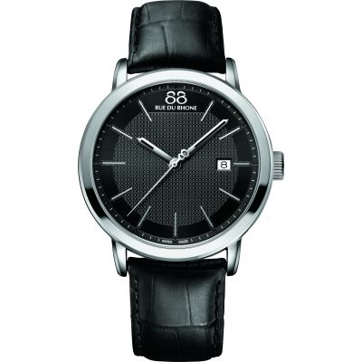 88 Rue Du Rhone Double 8 Origin 42mm Herrenuhr in Schwarz 87WA130010