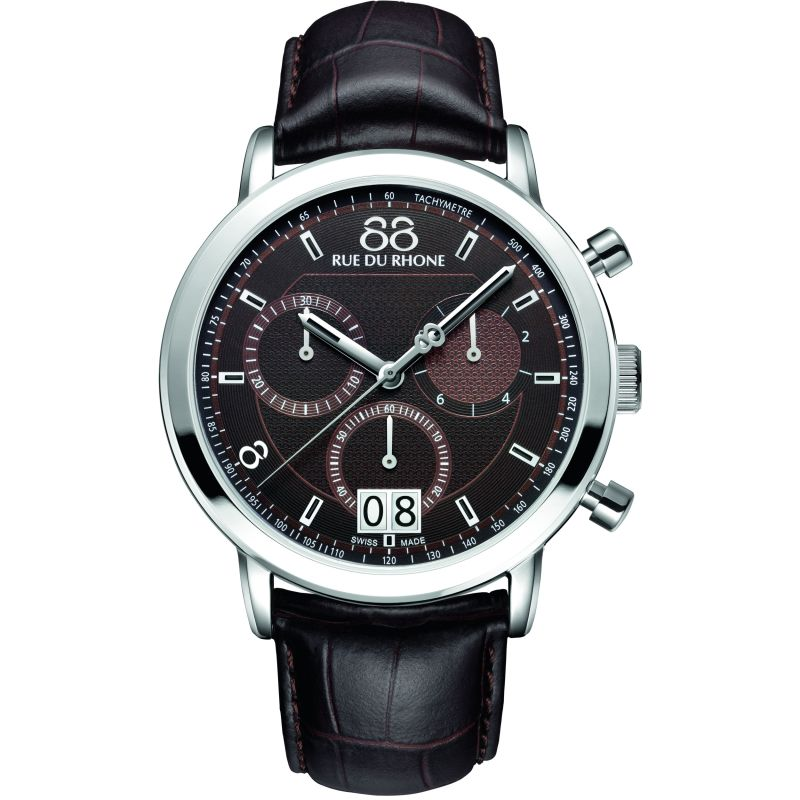 Mens 88 Rue Du Rhone Double 8 Origin 45mm Chronograph Watch