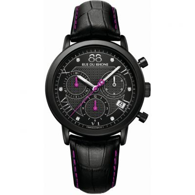 88 Rue Du Rhone Double 8 Origin 35mm Damenchronograph in Schwarz 87WA130027