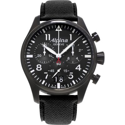 Mens Alpina Startimer Pilot Chronograph Watch AL-372B4FBS6