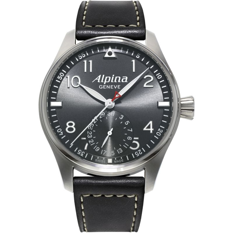 Mens Alpina Startimer Pilot Manufacture Automatic Watch