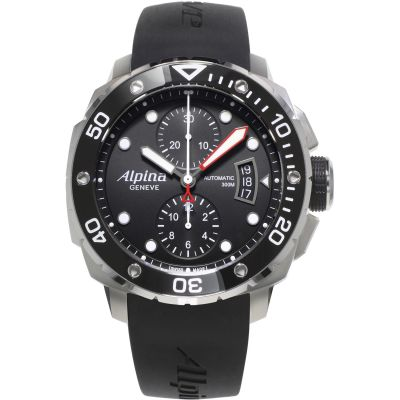 Mens Alpina Extreme Diver Automatic Chronograph Watch AL-725LB4V26