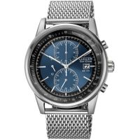 Mens Citizen Mesh Chronograph Eco-Drive Watch