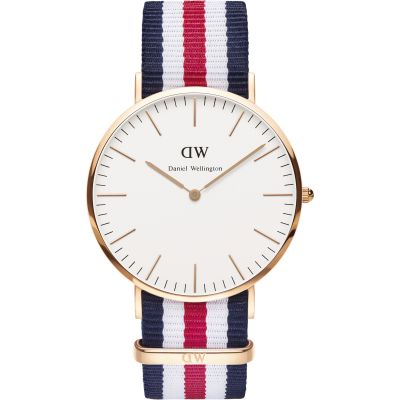 Daniel Wellington Canterbury 40mm Herrenuhr in Mehrfarbig DW00100002