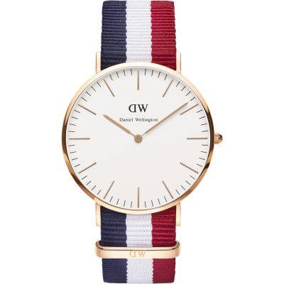 Daniel Wellington Cambridge 40mm Herrenuhr in Mehrfarbig DW00100003