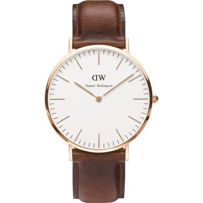 Daniel Wellington St Mawes 40mm Herrenuhr in Braun DW00100006