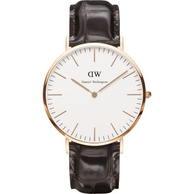 Daniel Wellington York 40mm Herrenuhr in Braun DW00100011