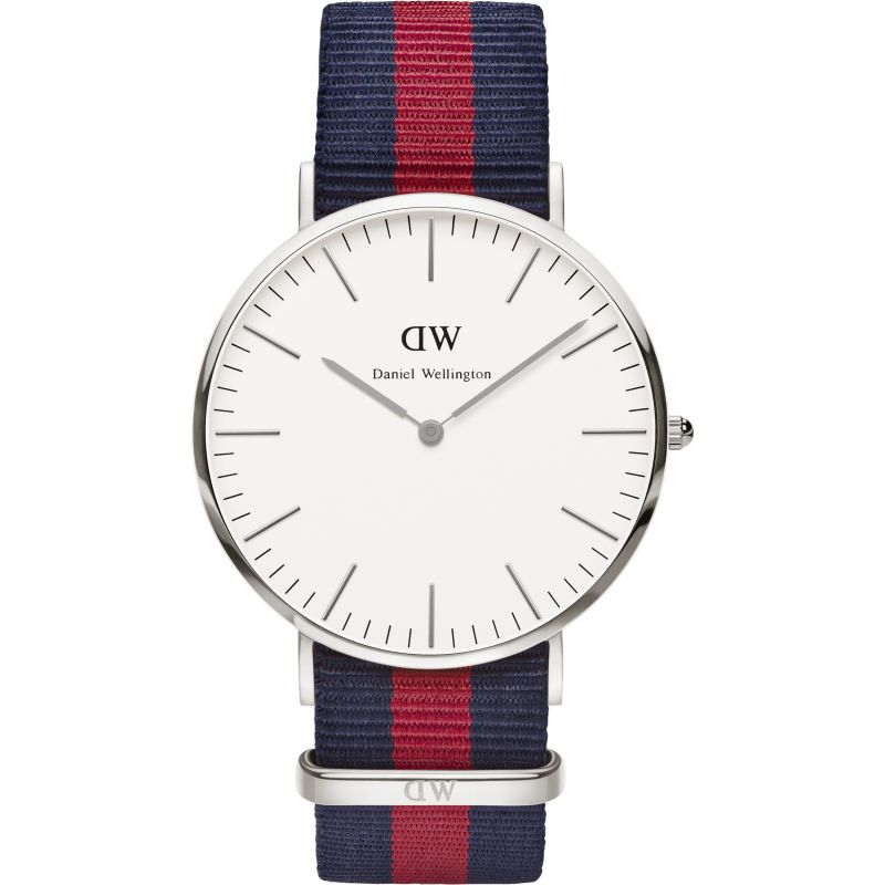 Mens Daniel Wellington Oxford Silver 40mm Watch