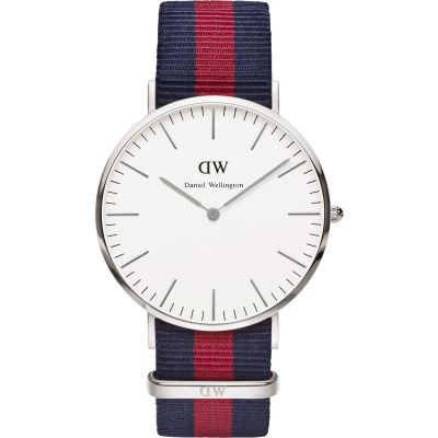 Mens Daniel Wellington Oxford Silver 40mm Watch DW00100015