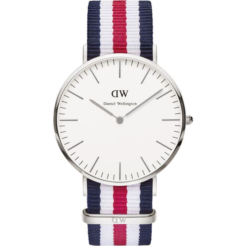 Mens Daniel Wellington Canterbury Silver 40mm Watch