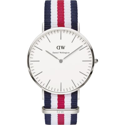 Mens Daniel Wellington Canterbury Silver 40mm Watch DW00100016