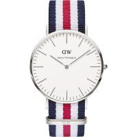 Mens Daniel Wellington Canterbury Silver 40mm Watch