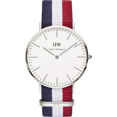 Mens Daniel Wellington Cambridge Silver 40mm Watch DW00100017