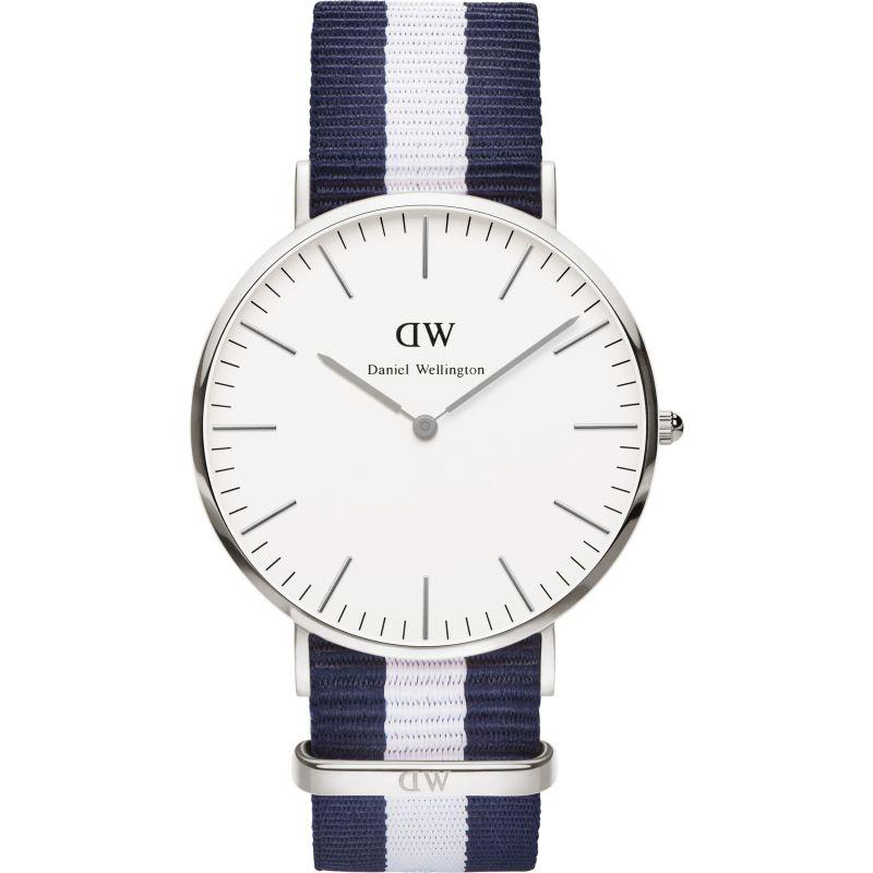 Mens Daniel Wellington Glasgow Silver 40mm Watch
