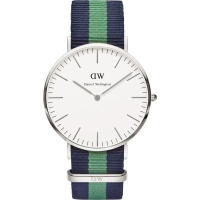 Mens Daniel Wellington Warwick Silver 40mm Watch DW00100019