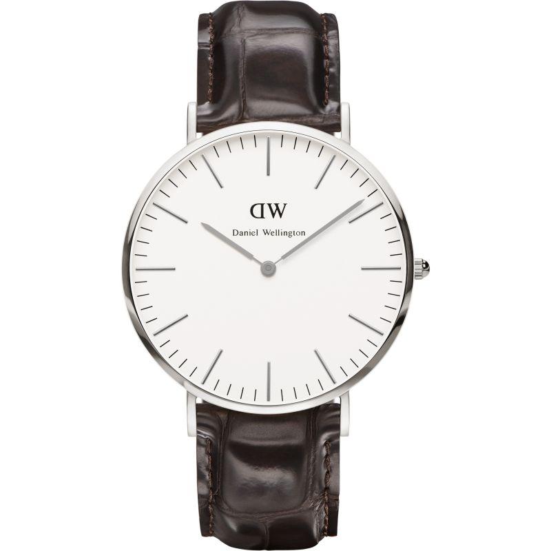Mens Daniel Wellington York Silver 40mm Watch