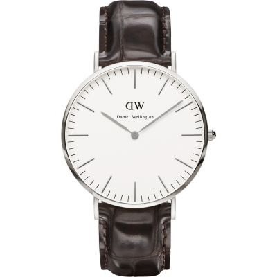 Mens Daniel Wellington York Silver 40mm Watch DW00100025